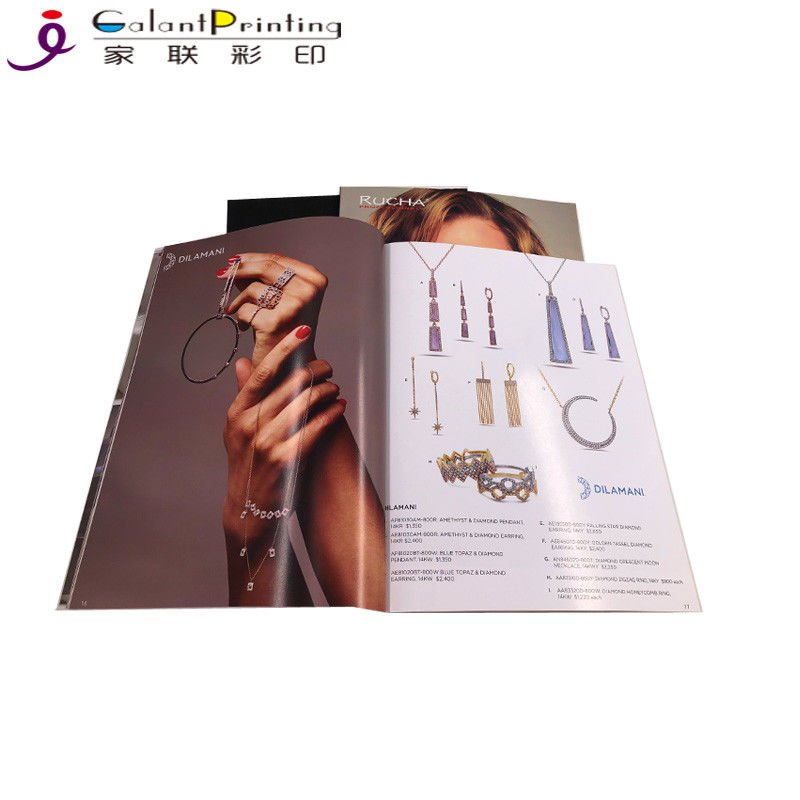 Glossy Perfect Bound Magazine Printing Services / Laminated Booklet Printing